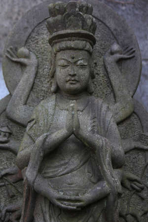 千武装京都石像 写真素材