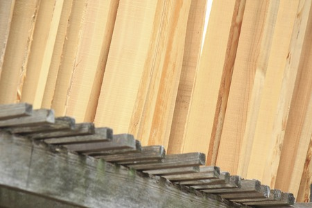 drying: Natural drying of timber