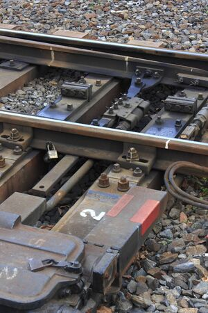 railroad tie: Switching point of the railway rail