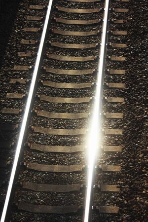 railroad tie: Railway rails