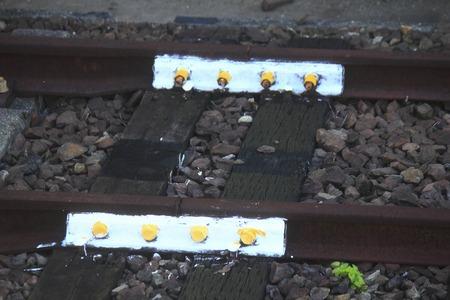 railroad tie: The seam of the railway rail