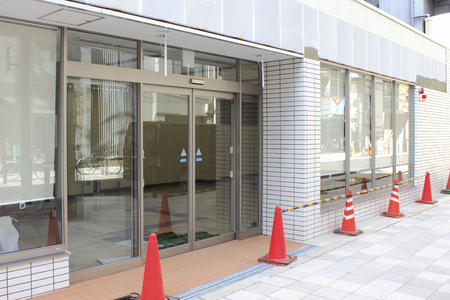 convenience: New construction of a convenience store