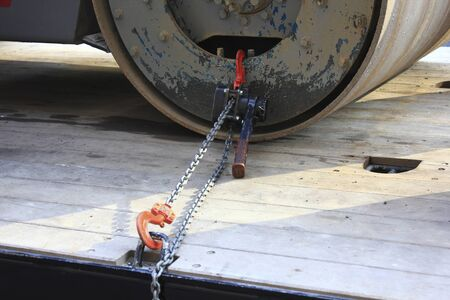 winch: Power winch you have tied the construction machinery