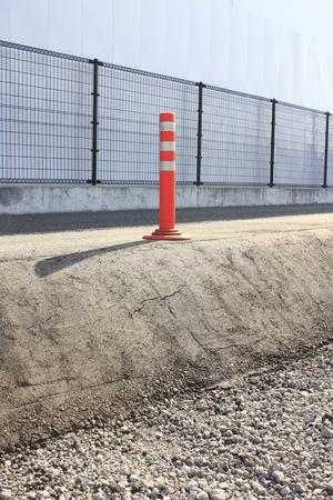 embankment: Embankment of the redevelopment area of asphalt