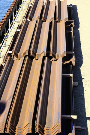 impervious: Impervious sheet pile of seawall construction