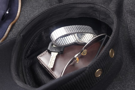 article of clothing: Put in the hat mens accessories Stock Photo