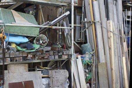 construction materials: Materials of Construction Materials Storage Stock Photo