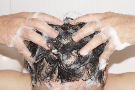 a bathing place: Shampoo men
