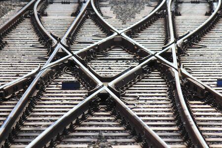 電車のレール 写真素材