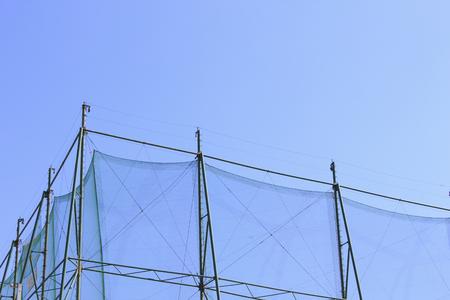 ゴルフ練習ネット 写真素材