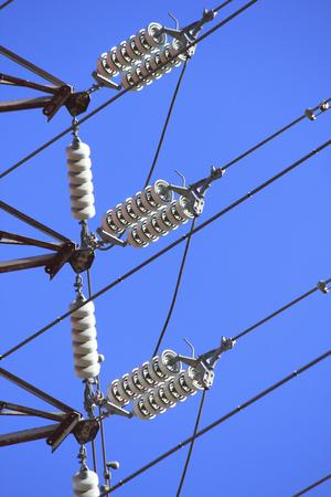 transmission line: Of high-voltage transmission line insulators