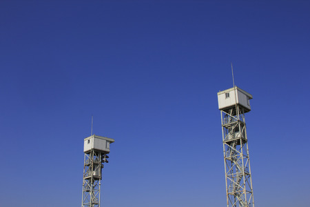 watchtower: Blue sky and the watchtower Stock Photo