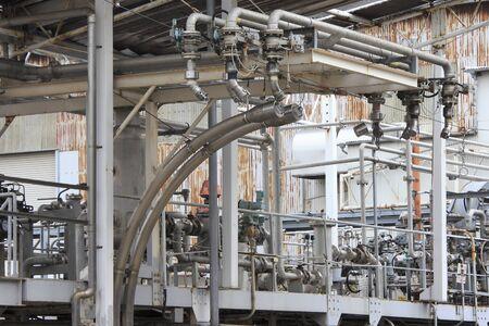 ガス充填装置工場 写真素材