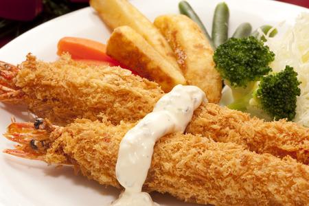fried shrimp: Fried shrimp