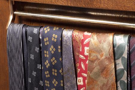 closet: Tie in the closet Stock Photo