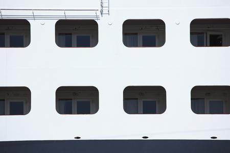 luxury liner: Balconies of the luxury liner