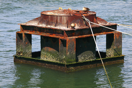 anchoring: Steel Rusted for ships anchoring
