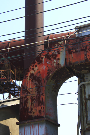 duct: Rusty factory exhaust duct
