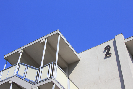 public housing: Public housing and blue sky of reinforced concrete