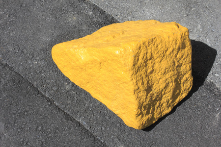 molesto: Piedras Handicap para rechazar el aparcamiento molesto Foto de archivo