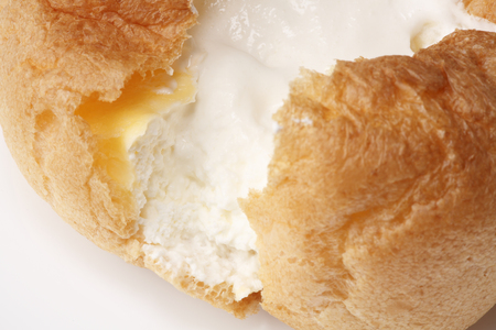 indulgent: Cream puffs Stock Photo