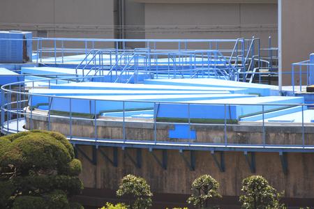 water purification plant: Water purification plant Stock Photo