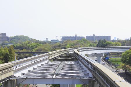 monorail: Osaka Monorail rail Stock Photo