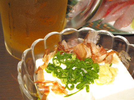 冷奴、生ビール