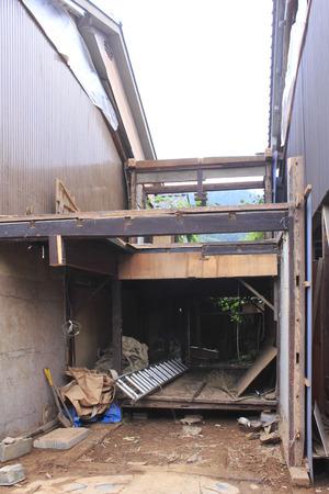 dismantle: House demolition construction site Stock Photo