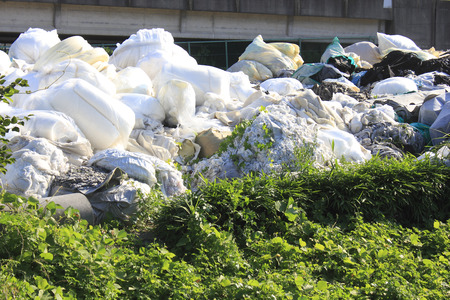 vacant land: Illegal dumping of trash