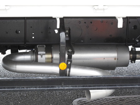 Exhaust muffler of the track with a catalyst