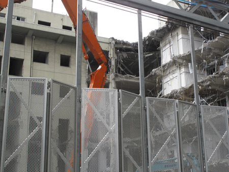 breaking down: Building demolition removal