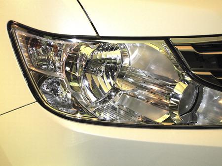 passenger car: Headlight of the passenger car
