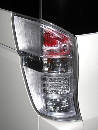 passenger car: Passenger car tail lights Stock Photo