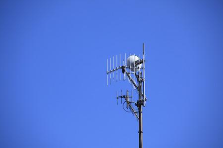 terrestrial: Digital terrestrial antenna Stock Photo