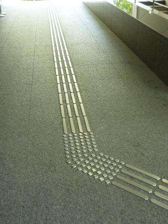 braile: panel Braille del edificio del pasaje