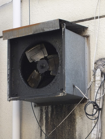 exhaust fan: Grease exhaust fan Stock Photo