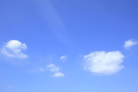 reviving: Blue sky and white clouds Stock Photo
