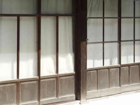 retrospective: Shop retro sliding door and curtains