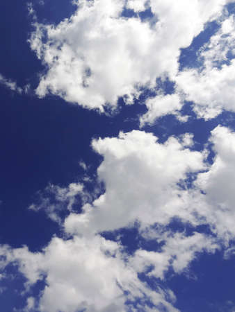 white clouds: White clouds and blue sky