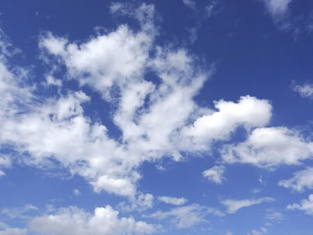 bluesky: White clouds and blue sky