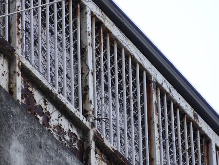 jail: Of jail iron fence Stock Photo