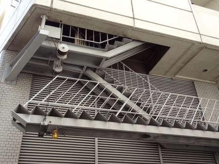 evacuacion: Escaleras de evacuación del edificio Foto de archivo