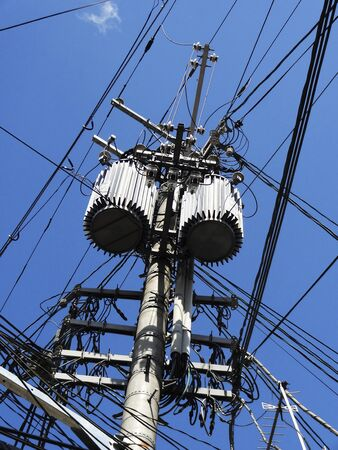 utility pole: Transformer of the utility pole