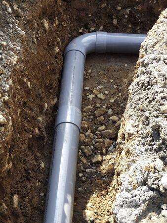 water pipe: Calle de la construcci�n de tuber�as de agua Foto de archivo
