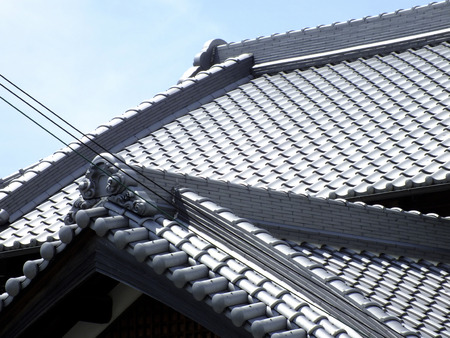 roof tiles: Japanesestyle roof tiles Stock Photo