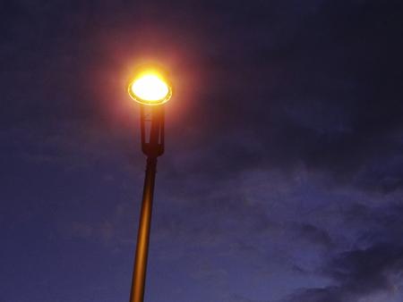 street corner: Street lights that illuminate the street corner