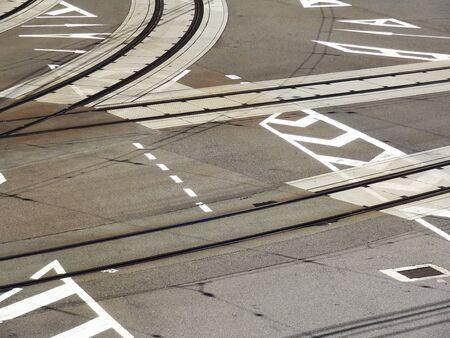 road surface: Road surface rail Keihan train Keishin