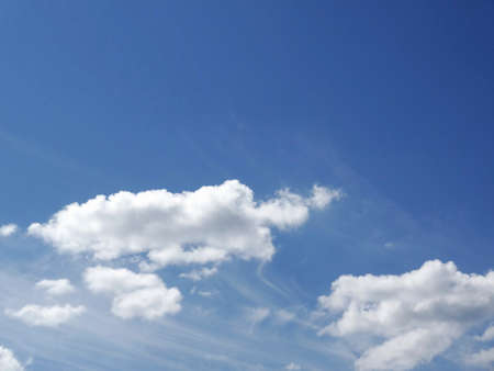 reviving: White clouds and blue sky