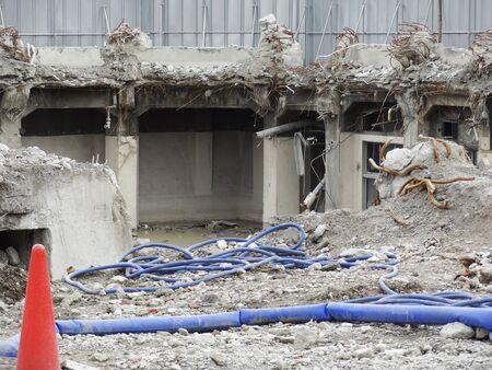 precursor: Building demolition Stock Photo